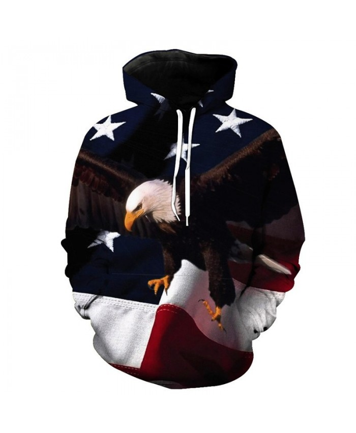 Flying Eagle American Flag Printing Hoodies Men Women Sweatshirts Casual Hoodie Autumn Tracksuit Pullover Hooded Sweatshirt