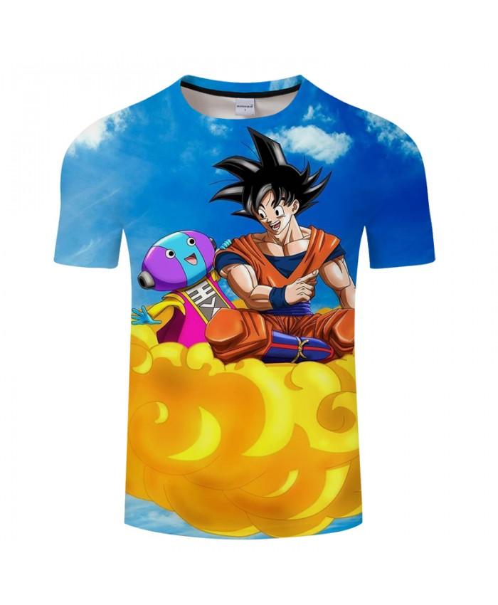 Flying Goku&Sky 3D Print T shirt Men Summer Short Sleeve Tops&Tees Women Tshirt Dragon Ball Fresh Hip Hop Drop Ship