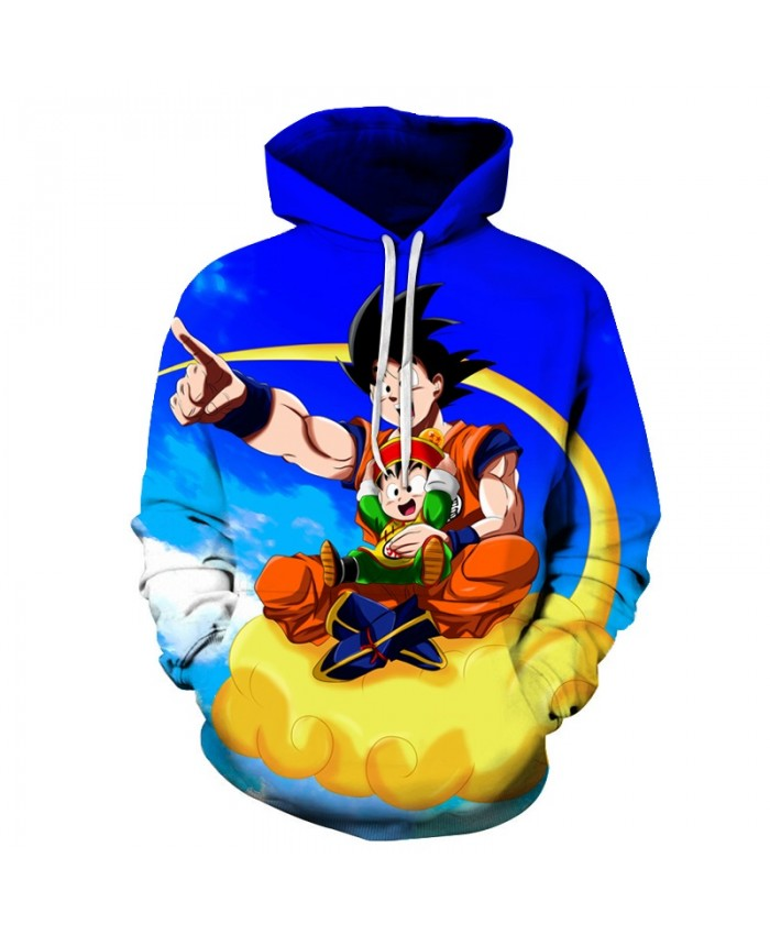 Flying in the sky Men Hoodies Dragon Ball 3D Print Women Hoodie Band Sweatshirts Pullover Tracksuit Long Sleeve Goku Top DropShip