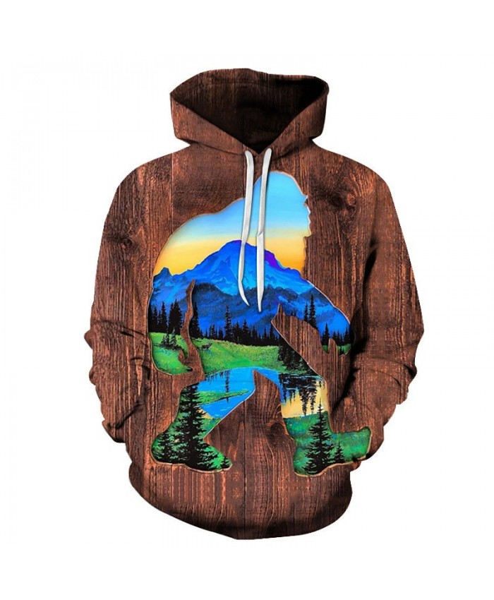 Forest Old Man 3D Print Men Pullover Sweatshirt Clothing Pullover Hoodie Streetwear Sweatshirt Casual Hoodies Men