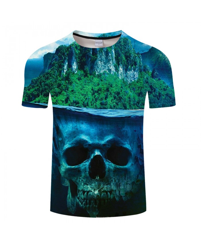 Forest&Skull 3D Print t shirt Men Women tshirts Summer Casual Short Sleeve Personality Tops&Tees Camiseta Drop Ship