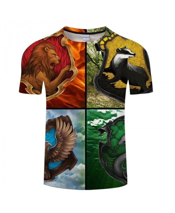 Four Types Of Animals Movie 3D Print Men tshirt Crossfit Shirt Casual Summer Short Sleeve Male T Shirt Men Brand Men