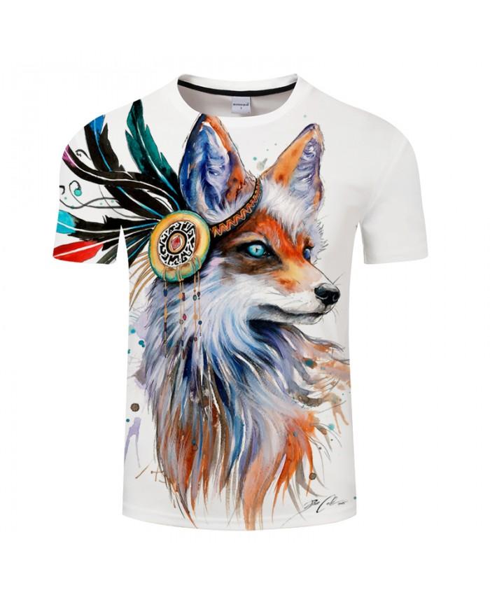 Fox by Pixie cold Art Mens t shirt 3D Digital Prints tshirt 2021 Summer Unisex Brand Tees Tops Drop Ship