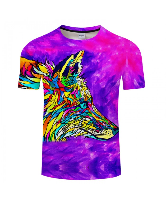 Foxadelic By Art 3D Print T shirt Men Summer Casual Short Sleeve Top&Tee Boy Tshirt Streetwear 2018 DropShip