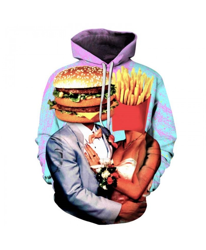 French Fries Head Mens Pullover Sweatshirt hoodies Pullover Sweatshirt Fashion Hoodie Tops Sell Long Sleeve Men