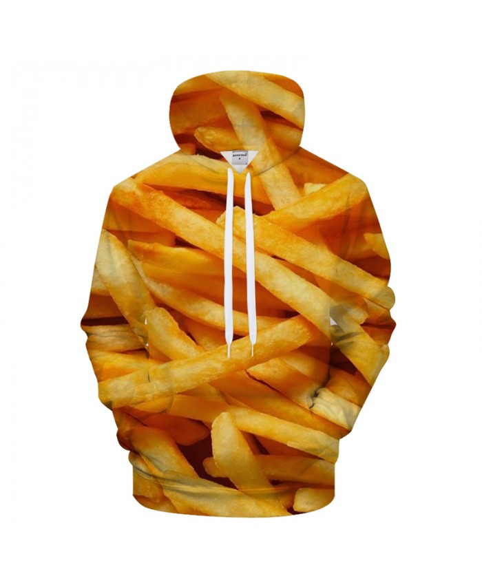 Fries 3D Hoodies Funny Hoody Men Sweatshirt Male Tracksuit 6XL Pullover Streatwear Jacket Unisex Hip Hop Drop Ship
