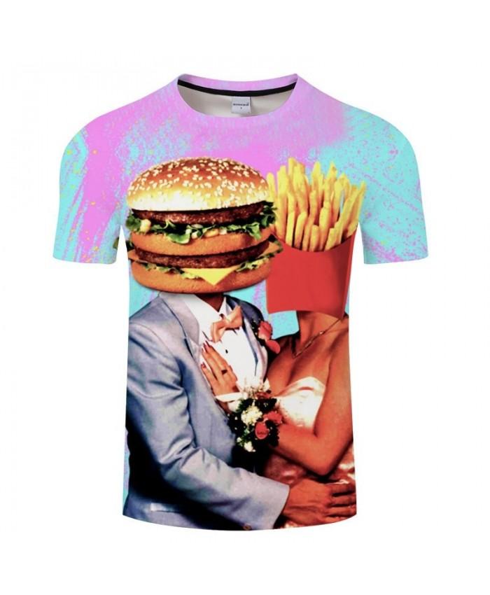 Fries Cosplay t-shirt Fashion Men tshirt Couple T-Shirt Casual Tops Harajuku t shirt O-neck Streetwear Drop Ship