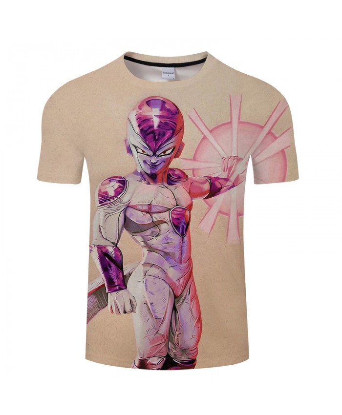 Frieza Anime 3D Print T shirt Men Summer Short Sleeve Tops&Tees Boy Tshirt Dragon Ball Loose Hip Hop 2021 Drop Ship