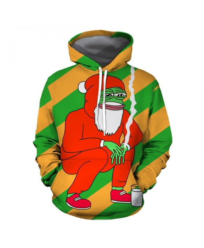 Frog Santa Hoodies 3D Sweatshirts Men Women Hoodie Print Couple Tracksuit Hooded Hoody Clothing