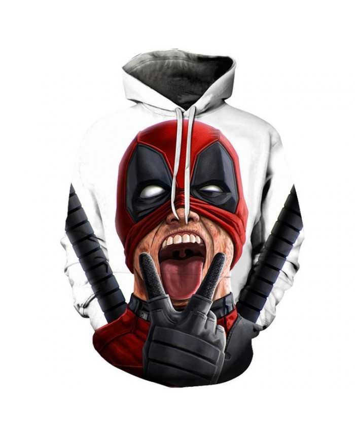 Fun Deadpool 2 hooded sweatshirts 2019 autumn new men women Funny 3d printing Tracksuits Streetwear Hoodies coat