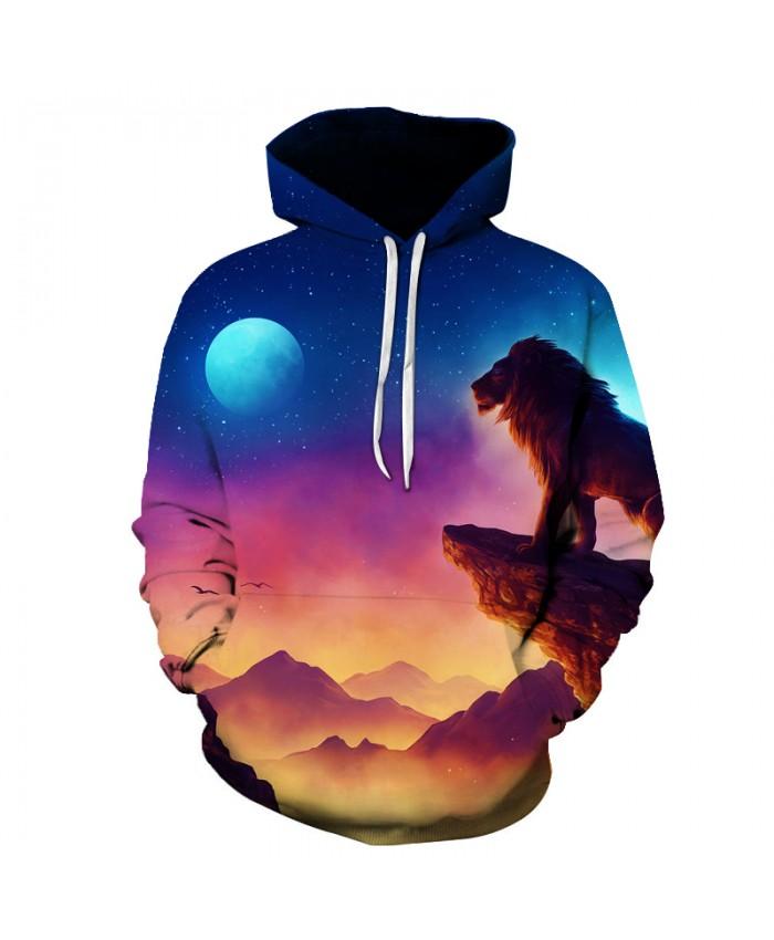 Funny 3D Printed Men Women Hoodies Male Sweatshirts Hooded Pullover Lion Pocket Steetwear Hip Hop Harajuku Jackets