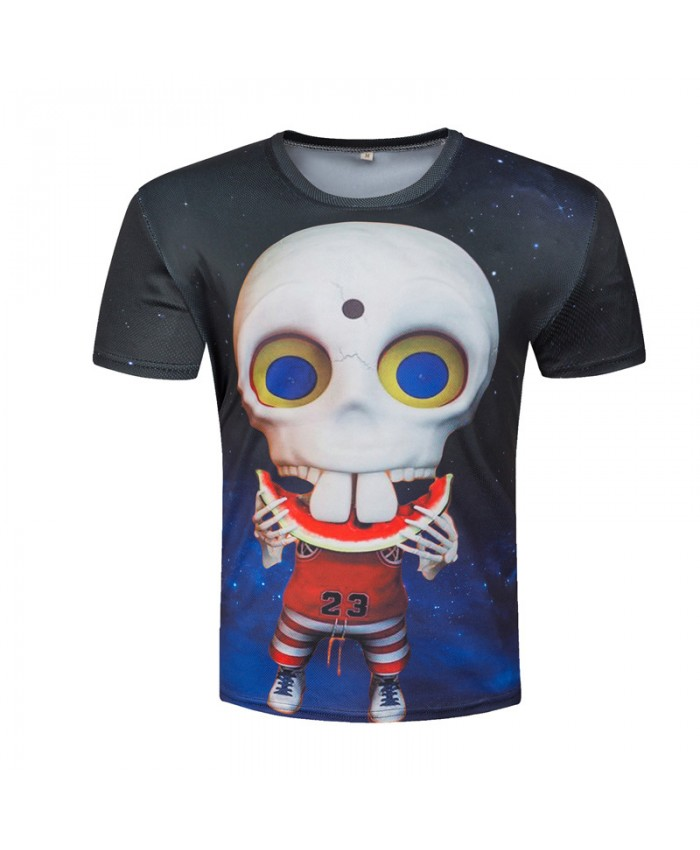 Funny 3D Tops Skull T shirts Men Space Tees Galaxy Tshirts Printed Camisetas Casual Harajuku Homme Graphic 3D 2018