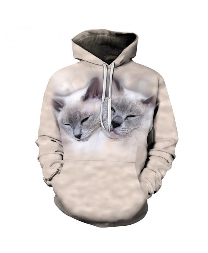 Funny Cat Sweatshirts Men Hoodies Harajuku Hoody Streetwear Tracksuit Prints Pullover 3D Autumn Coat Anime Drop Ship