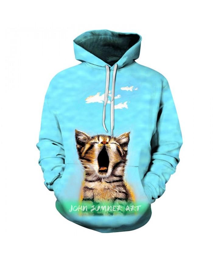 Funny Cat Sweatshirts Men Women Hoodies Anime Tracksuits 3D Pullover Autumn Hoody Boy Coat Streetwear 6xl Drop Ship