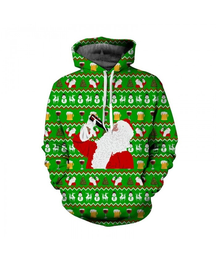 Funny Christmas Hoodies Sweatshirt Men Women 3d Print Hoody Plus Size Pullover Tracksuit Autumn Winter Thin Streetwear