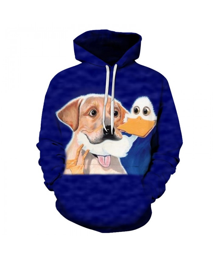 Funny Dog Sweatshirts Men Women Hoodies Anime Tracksuits 3D Pullover Streetwear Hoody Boy Coat Harajuku Drop Ship