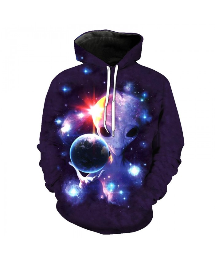 Funny Earth Master Alien Hoodies Cool Hooded sweatshirt