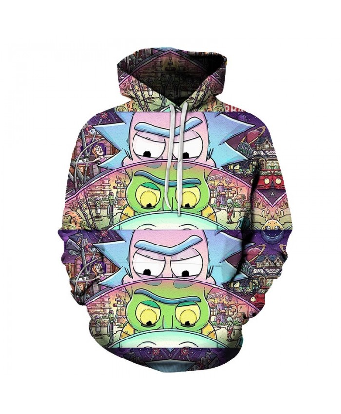 Funny Hoodies Men Women Sweatshirts 3D Hoodie Rick and Morty Pullover Streetwear Hoody Anime Tracksuits Drop Ship A