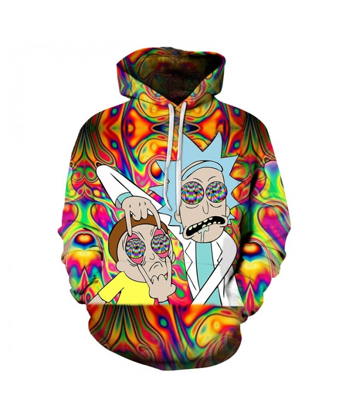 Funny Hoody Rick Hoodies 3D Pullover Mens Sweatshirts Male Hoodie Streatwear Tracksuit 2021 Autumn Clothing DropShip