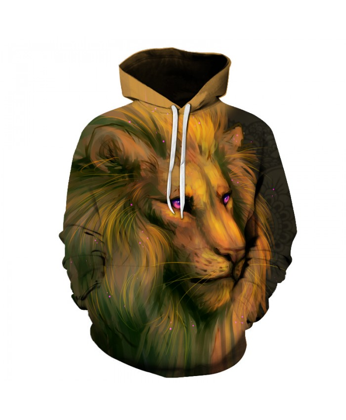 Funny Lion Printed 3D Sweatshirts Men Women Tracksuits Male Jackets Harajuku Outwear Cool Hooded Steetwear Hoodies Pullover