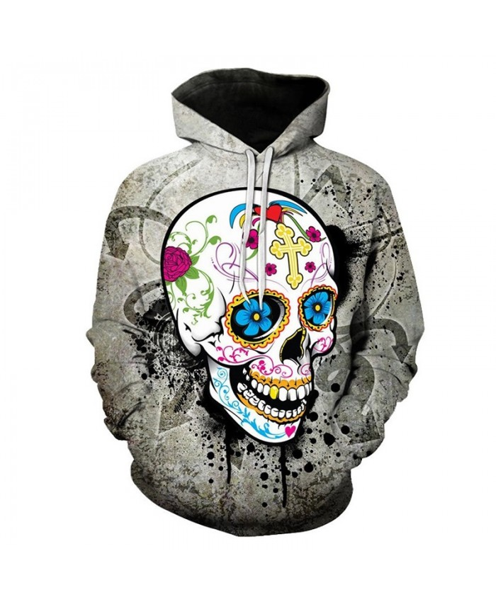 Funny SKull 3D Printed Hoodies Men Women Sweatshirt Plust Size 6XL Brand Hoodie Skull Pullover Drop Ship Male Tracksuits Fashion
