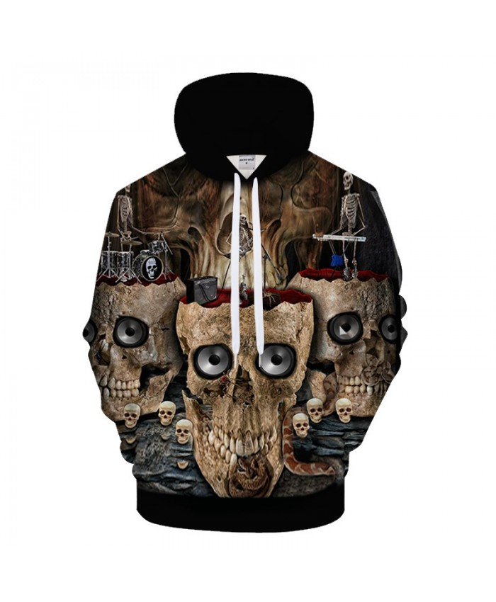 Funny Skull 3D Hoodies Men Women Hoody Streetwear Sweatshirt Printed Tracksuits Pullover Hoodie Male Cloth Drop Ship