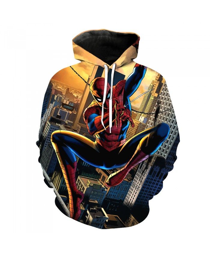 Funny Women Men Hoodie movies Spider Man 3D Print Casual Hoodies Sweatshirt Casual Pullover Sportswear