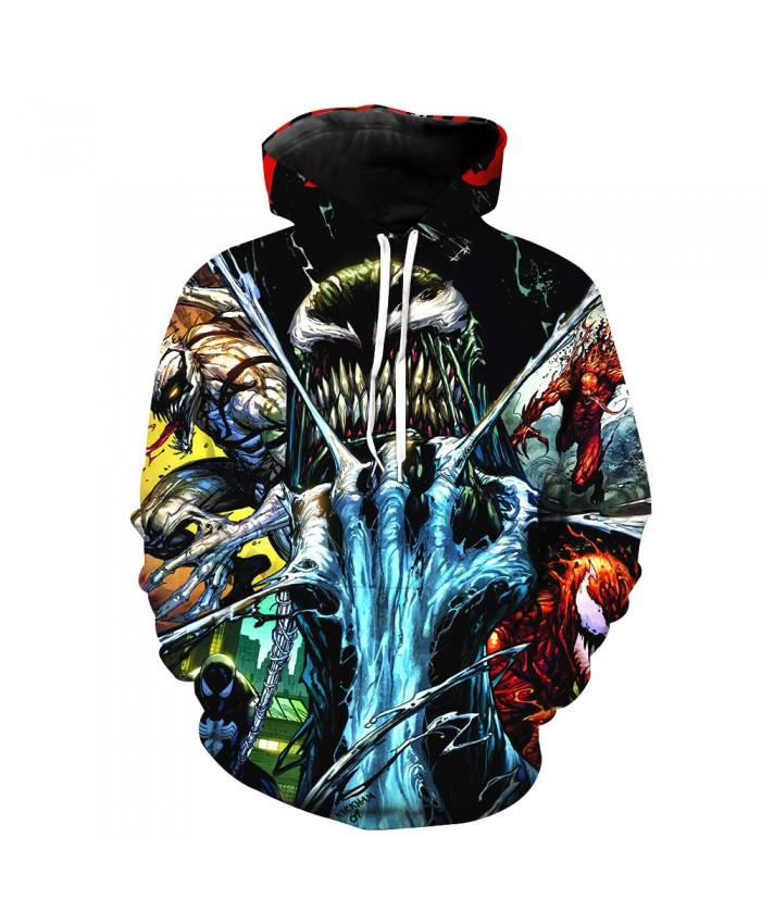 Funny Women Men Hoodie movies Venom 3D Print Casual Hoodies Sweatshirt Casual Pullover Sportswear B