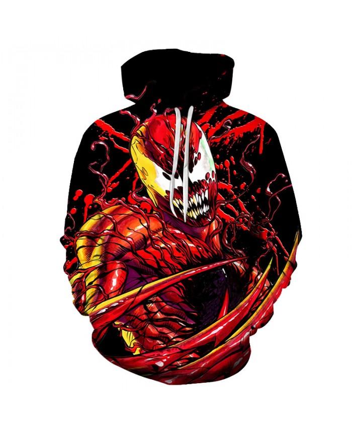 Funny Women Men Hoodie movies Venom 3D Print Casual Hoodies Sweatshirt Casual Pullover Sportswear E