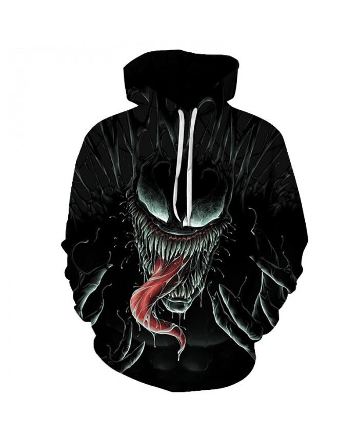 Funny Women Men Hoodie movies Venom 3D Print Casual Hoodies Sweatshirt Casual Pullover Sportswear M