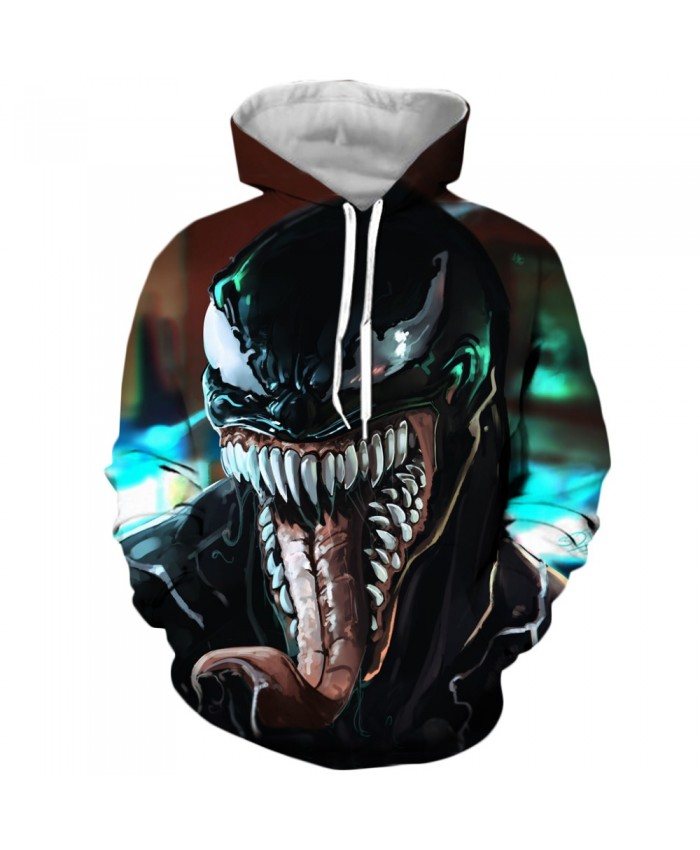 Funny Women Men Hoodie movies Venom 3D Print Casual Hoodies Sweatshirt Casual Pullover Sportswear Q