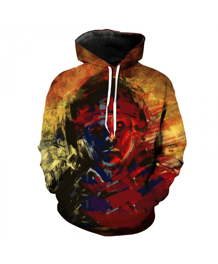 Fuzzy Graffiti Soldiers Fashion Cool Neutral Hooded Sweatshirt Street Leisure Pullover