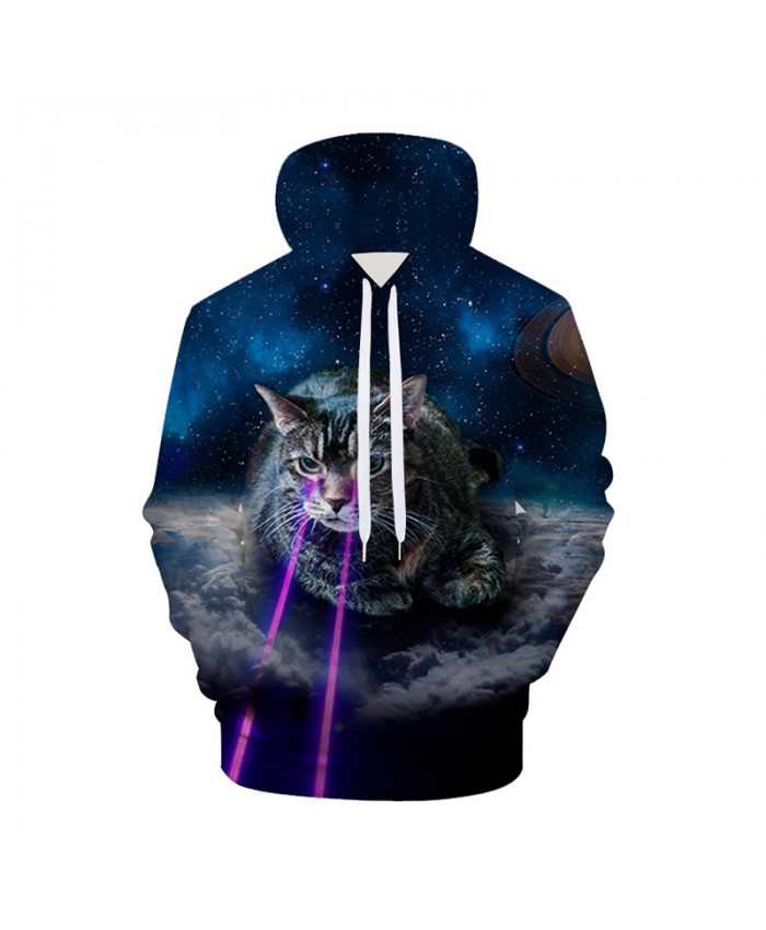 Galaxy 3D Hoodies Cat Hoodie Sweatshirts Animal Space Pullover Casual Tracksuits Brand Fashion Coats Streetwear Clothes B