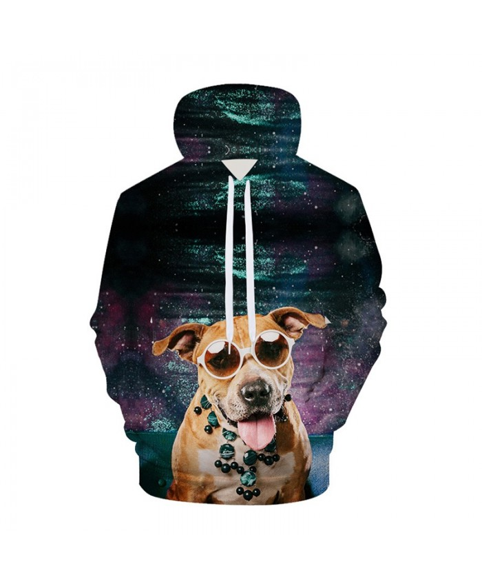Galaxy 3D Hoodies Dog Hoodie Sweatshirts Animal Space Pullover Casual Tracksuits Brand Fashion Coats Streetwear Clothes B