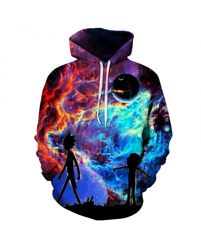 Galaxy Hoodies Men Hoody 3D Sweatshirt Rick and Morty Tracksuit Funny Pullover Cartoon Coat Streatwear Cloth Dropship