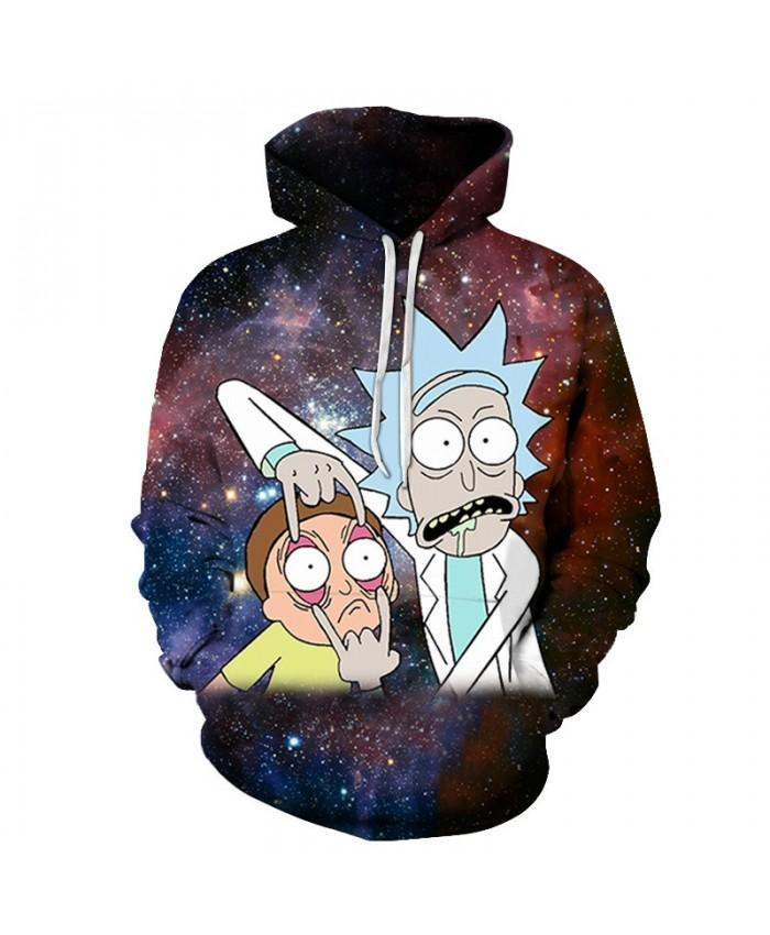 Galaxy Hoody Rick and Morty Printed Hoodies 3D Tracksuits Men Sweatshirt Cartoon Hoodie Fashion Pullover Drop Ship