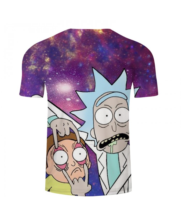 Galaxy&Rick and Morty 3D Print t shirt Men Women tshirts Summer Anime Short Sleeve O-neck Tops&Tee Purple Drop Ship
