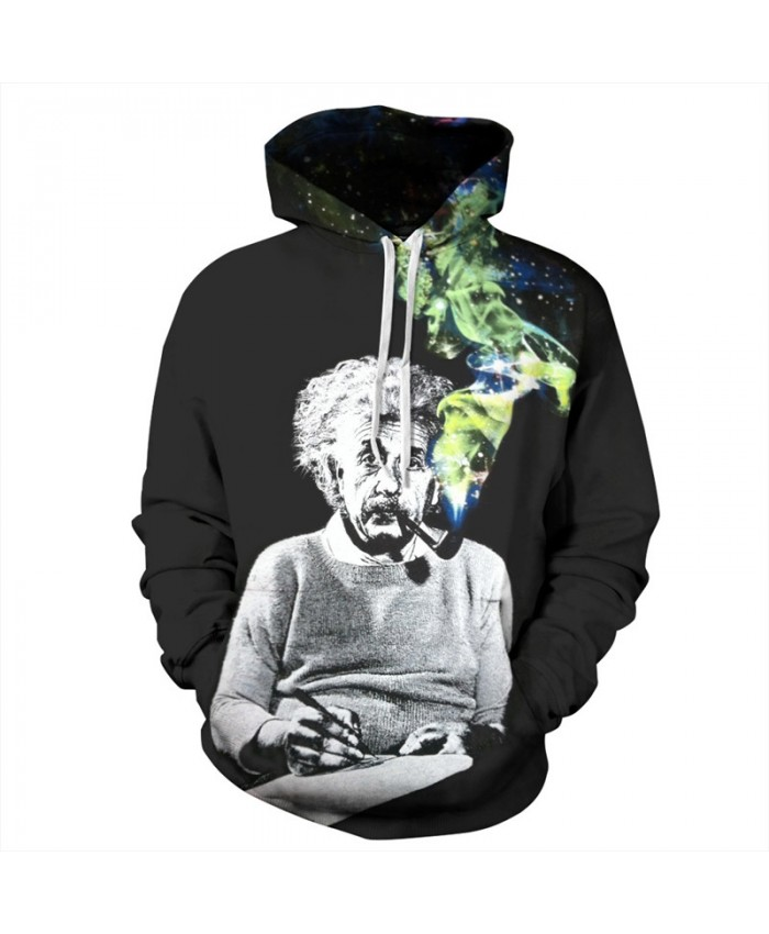 Galaxy Smoke Einstein Neutral Hooded Sweatshirts Fashion Sportwear