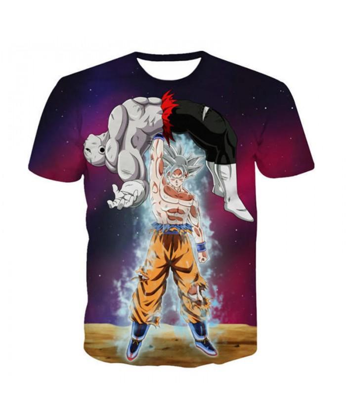 Galaxy Space Anime Dragon Ball Z 3D T Shirts Summer Cartoon Men Boy Super Saiyan Kids Goku Fighting Tshirt Casual Tee Tops 5XL