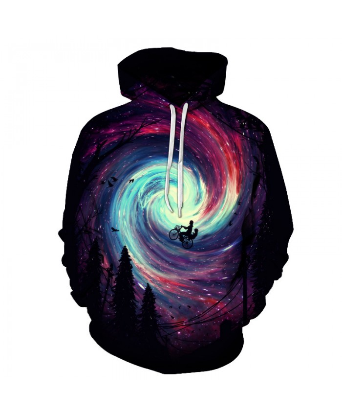 Galaxy Vortex 3D Sweatshirts Men/Women Hoodies With Hat Print Fashion Autumn Winter Loose Thin Hooded Hoody Tops