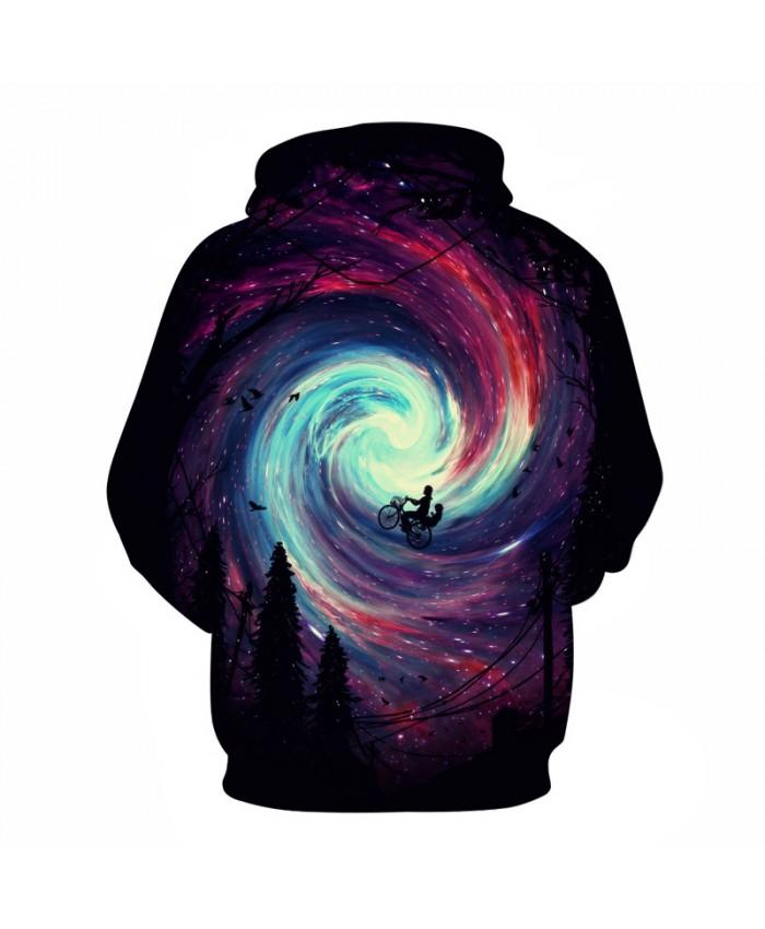 Galaxy Vortex 3D Sweatshirts Men/Women Hoodies With Hat Print Fashion Autumn Winter Loose Thin Hooded Hoody Tops