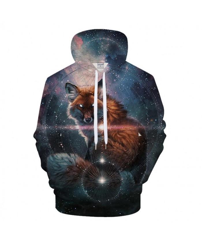 Galaxy&Wolf 3D Print Hoodies Men Casual Sweatshirt BrandTracksuit Pullover Autumn HoodedCoat Unisex Harajuku DropShip