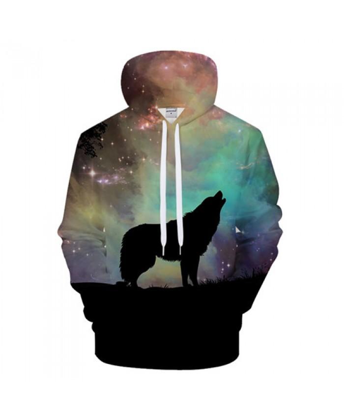 Galaxy Wolf Hoodies 3D Men Hoodie Unisex Sweatshirts Brand Hoody Tracksuits Fashion Pullover Novelty Streetwear Coat