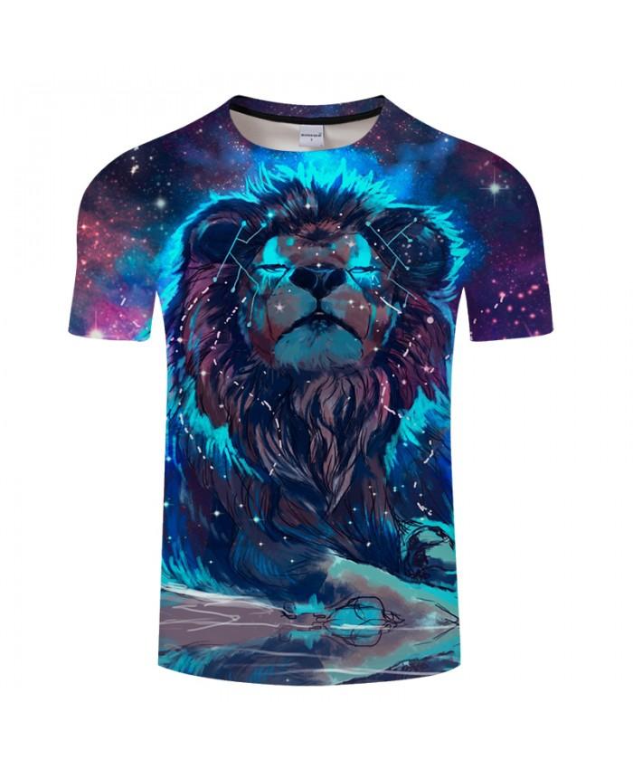 Galaxy&lion 3D Print t shirt Men Women tshirts Summer Funny Short Sleeve O-neck Streetwear Tops&Tees 2021 Drop Ship