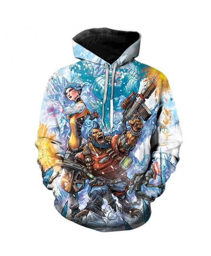 Game Borderlands 3 3D Printed Hoodies Men Women Singer Hooded Sweatshirts Spring Outerwear Plus Size Unisex Polluver A