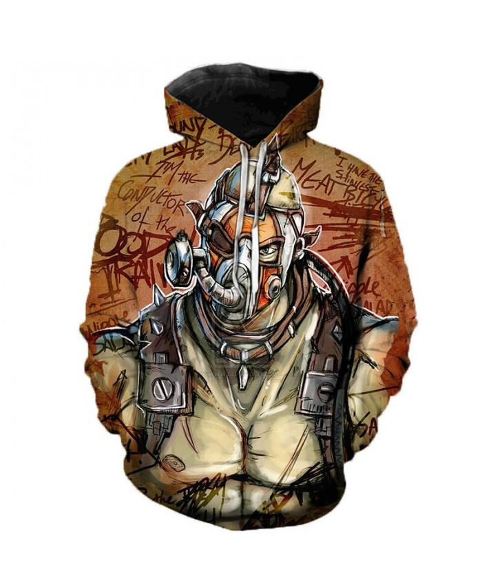 Game Borderlands 3 3D Printed Hoodies Men Women Singer Hooded Sweatshirts Spring Outerwear Plus Size Unisex Polluver E