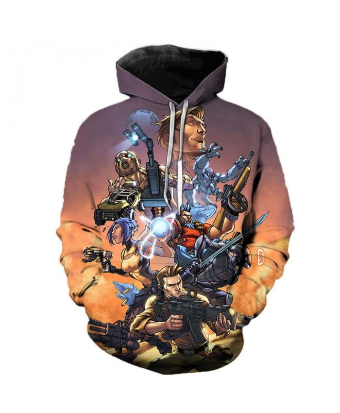 Game Borderlands 3 3D Printed Hoodies Men Women Singer Hooded Sweatshirts Spring Outerwear Plus Size Unisex Polluver F