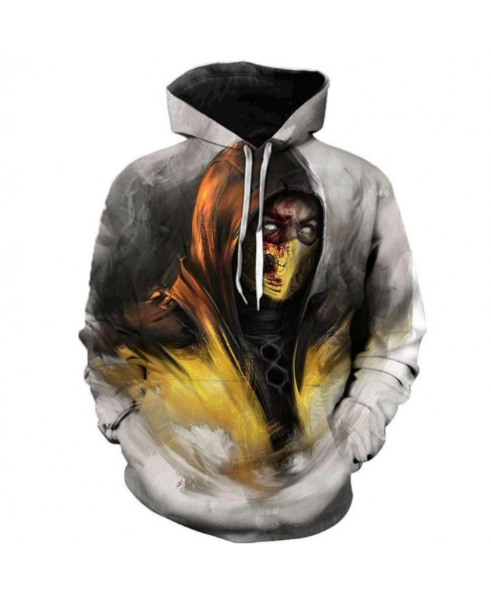 Game Mortal Kombat 11 3D Printed Hoodies Men Women Hooded Sweatshirts Spring Outerwear Plus Size Unisex Cool Polluver B