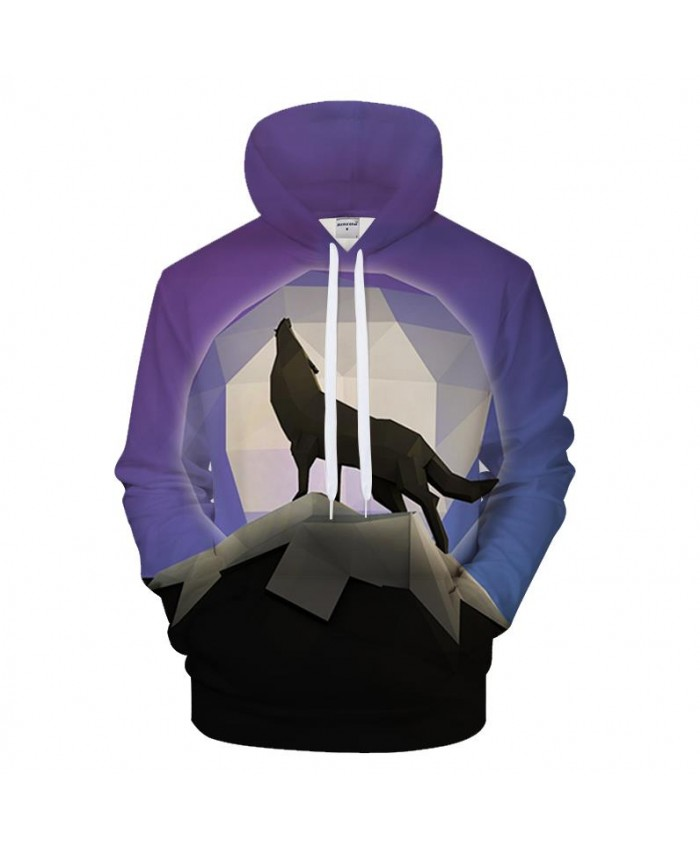 Geometry Wolf 3D Print Hoodies Men Casual Sweatshirt Brand Tracksuit Pocket Pullover Autumn Coat Streetwear Drop Ship