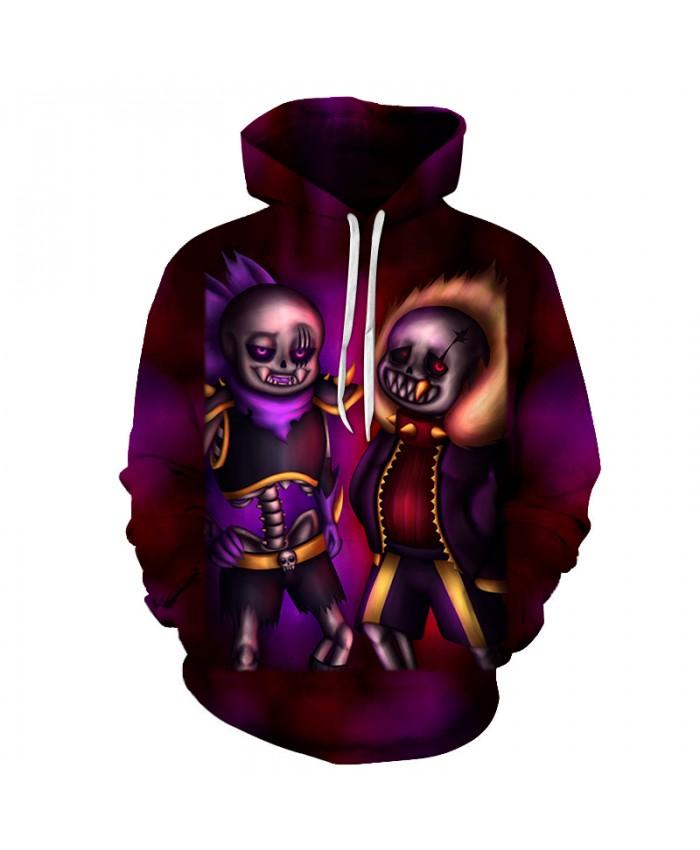 Ghost Brother 3D Print Hoodies Men Hoody Harajuku Hoodie Streatwear Sweatshirt Tracksuit Pullover Hip Hop Dropship